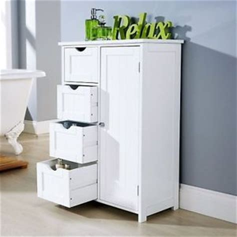bathroom cabinet unit storage white wood cupboard free
