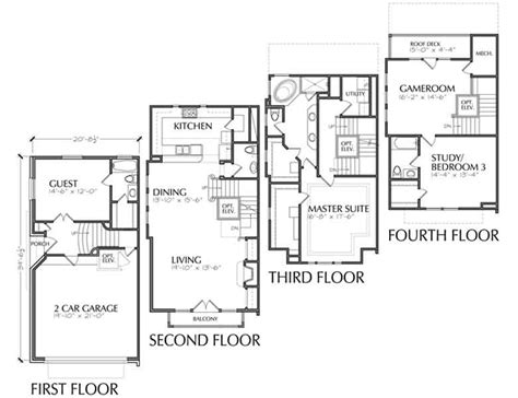 Luxury Townhouse Floor Plans Urban Loft Townhomes 8 Ft Interior Door Fingerprint Locks Rubber Strip Under How Much Are French Doors Garage Repair Tampa Houston Therma Tru Review Center Hinged Patio