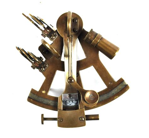 Sextant Measures by Antiqued Sextant With Wooden Presentation Box Pink Cat Shop