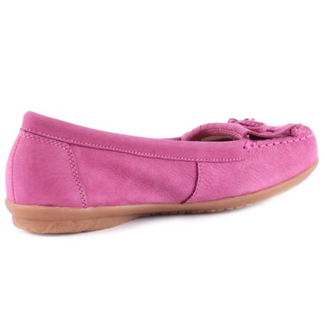 hush puppies ceil mocc kilty womens moccasins in pink