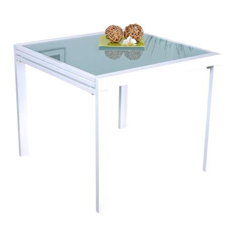 table basse carr 233 extensible laqu 233 blanc avec 4