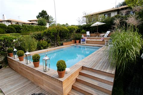 piscine bois semi enterr 233 e 3m