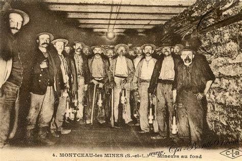 montceau les mines des mineurs de fond cartes postales anciennes