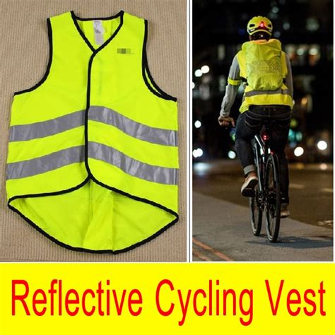Brand New Night Fluorescent Cycling Vest Reflective Jersey Road Bike Safety Vest Outdoor Bicycle