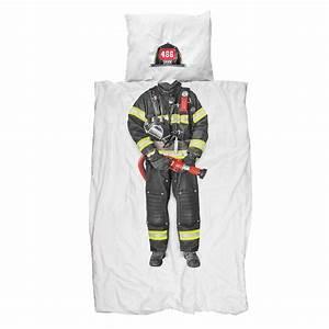 Bettdecken Set 135x200 : snurk firefighter bettw sche set feuerwehrmann 135x200 cm romodo ~ Markanthonyermac.com Haus und Dekorationen