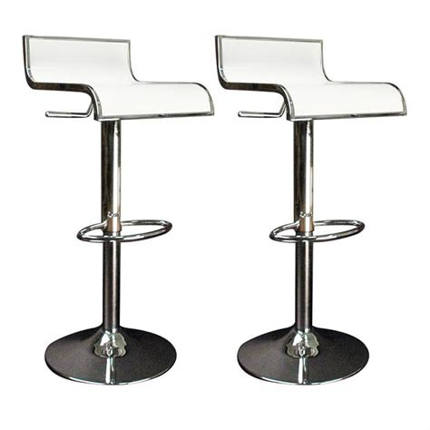 tabourets de bar cuisine blanc waves lot de 2 achat vente tabouret de bar mati 232 re du