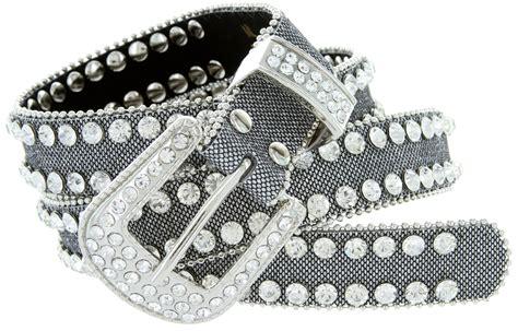 9001 Women's Rhinestones Studded Fashion Belt 1