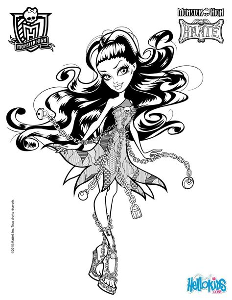 Monster High Coloring Page T8lscom