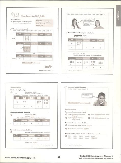 Math In Focus Grade 4 Answers  Math Practice Book Grade 4 Answers Go Florida Benchmarks