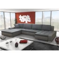 canap 233 angle en u r 233 versible halo gris achat vente canap 233 sofa divan cdiscount