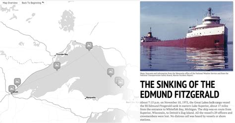 Sinking Of The Ss Edmund Fitzgerald by The Sinking Of The Edmund Fitzgerald A Detroit News Storymap