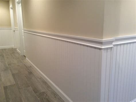 Hallway Wainscoting And Chair Rail Moulding Mantoloking