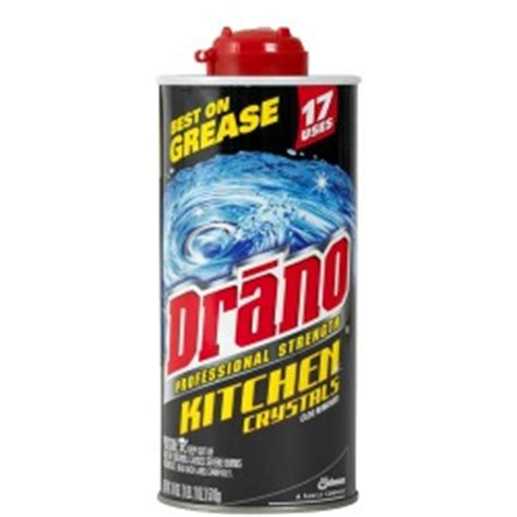 drano crystals review removed grease clog from kitchen