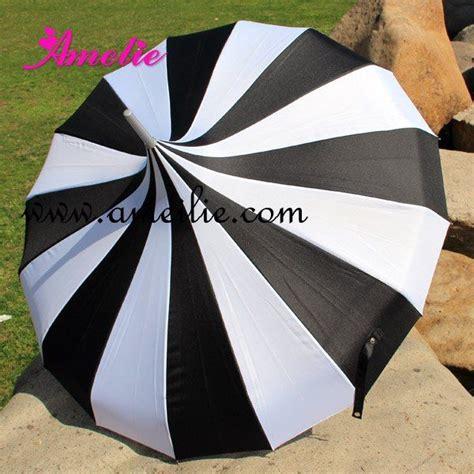 wholesale cheap pagoda umbrella black and white stripe patterns sun umbrella available