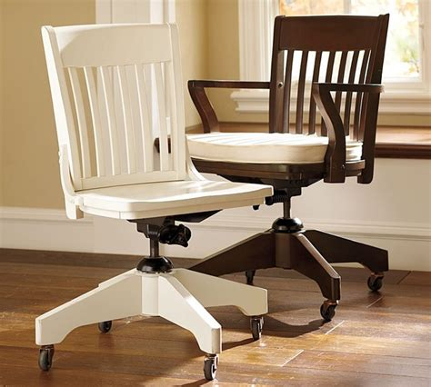 swivel desk chairs and cushion traditional office chairs by pottery barn