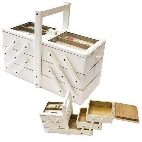 boite 224 couture en bois compartiment 233 e en escalier bois blanc