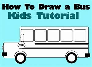 How to Draw School Busses Easy Drawing Tutorial for Kids ...