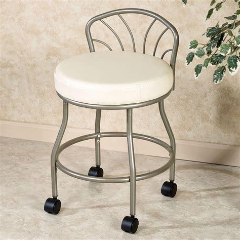 bathroom vanity stools with wheels onideas co