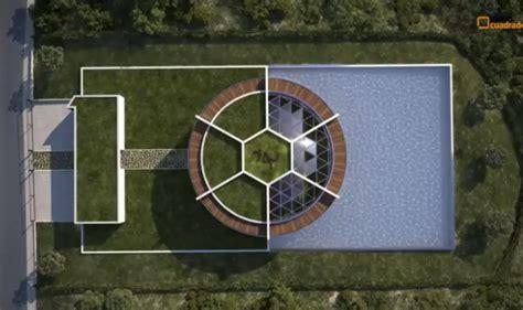 photos lionel messi il fait construire une maison en forme de ballon de football