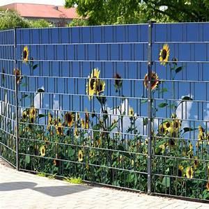 Sichtschutz Für Stabmattenzaun : sichtschutzstreifen bedruckt motiv sonnenblumen gelb sichtschutz ~ Markanthonyermac.com Haus und Dekorationen