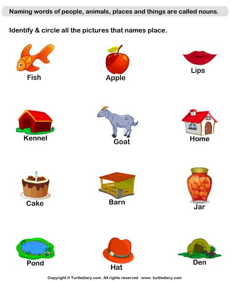 Identify Place Nouns Worksheet  Turtle Diary