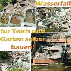 Teich Mit Wasserfall : wasserfall f r teich und garten selber bauen mit bauanleitung ~ Markanthonyermac.com Haus und Dekorationen