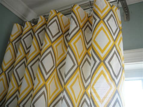 yellow and gray curtain panels for the home