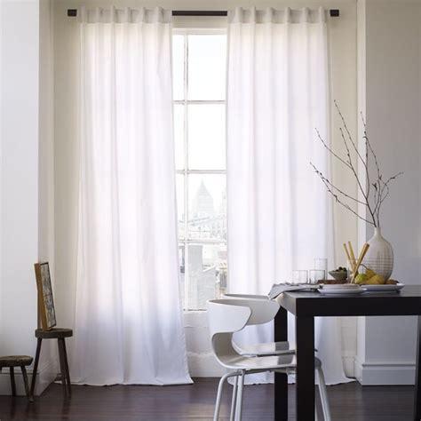 cotton canvas window panel white contemporary
