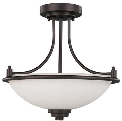 patriot lighting 174 camden 3 light 15 quot rubbed bronze semi flush mount at menards 174