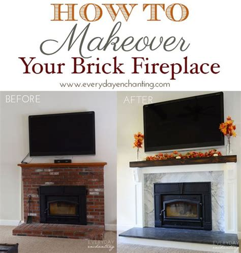 How To Cover Your Brick Fireplace  Wood Insert, Minimal