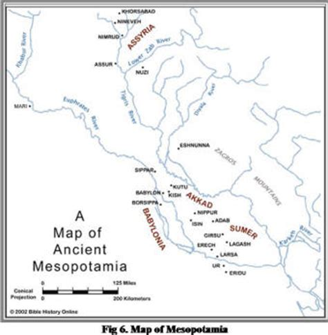 Map Of Ancient Mesopotamia Mesopotamia Comes From The