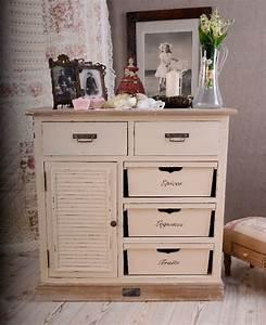 Shabby Chic Möbel Weiß : vintage kommode shabby chic weiss franz sische nostalgie ebay ~ Markanthonyermac.com Haus und Dekorationen