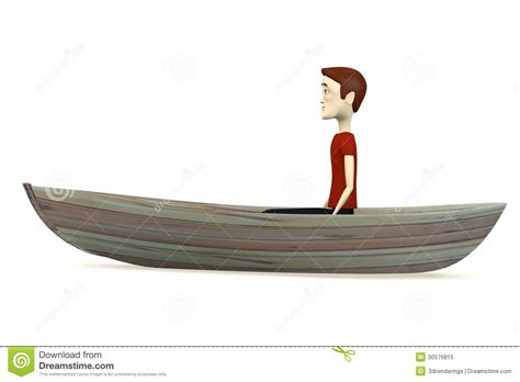 Cartoon Man In A Boat by Cartoon Man On Boat Stock Illustration Image Of Boat