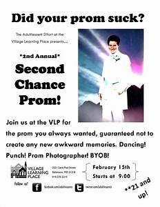 Second Chance Prom Flyer « Village Learning Place