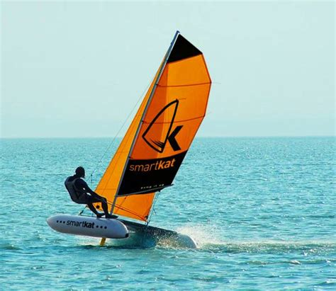 Inflatable Boats Geelong by Smartkat Portable Mobile Sailing School Team Building