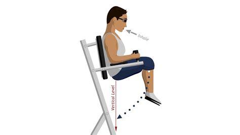 chair leg raise abdominal exercises