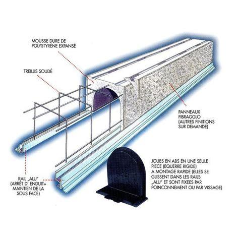 volet roulant mont 233 dans coffre tunnel en fibre avec tablier lames pvc œuvre par manivelle
