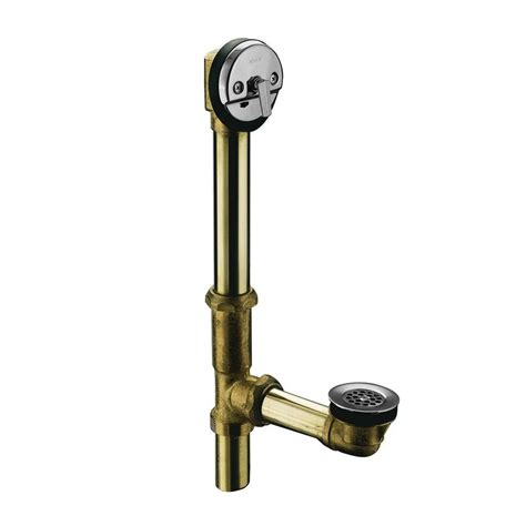 swiftflo brass adjustable trip lever drain in polished chrome k 11677 cp the home depot