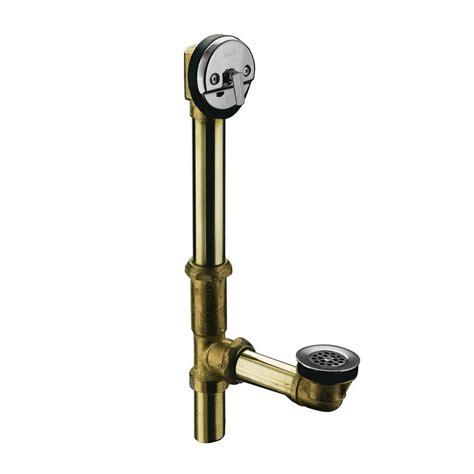 bathtub trip lever drain swiftflo brass adjustable trip lever drain in polished
