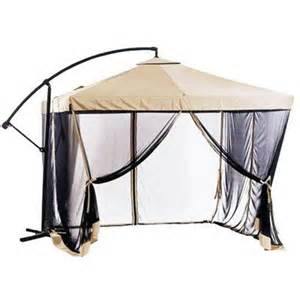 offset patio umbrella instant gazebo with mesh netting jouw pins voor tuinen nl your