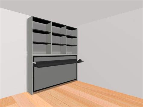 armoire lit transversale ares avec bureau integre couchage 105 22 190 cm