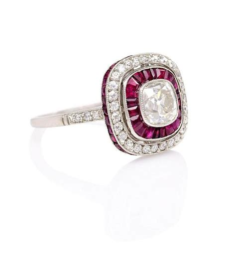 deco ruby and ring at 1stdibs