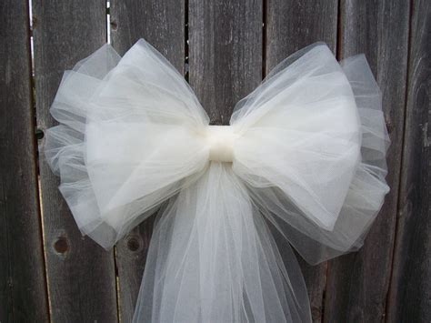 tulle pew bow 20 colors tulle church pew decor tulle