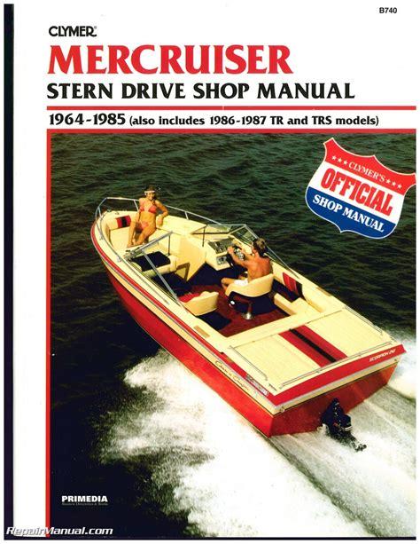 Boat Stern Repair by Mercruiser Stern Drive Boat Engine Shop Manual 1964 1987