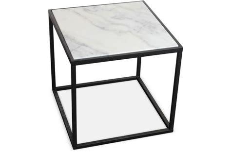 table de chevet en marbre blanc et m 233 tal 41x40 cm venus table de chevet pas cher