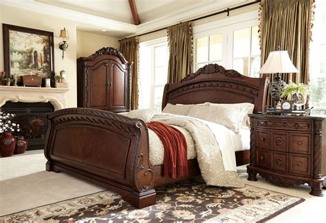 shore sleigh bedroom set from b553 coleman furniture