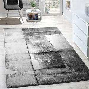 Teppich Wohnzimmer Grau : designer teppich modern kurzflor wohnzimmer trendig meliert grau creme silber ebay ~ Markanthonyermac.com Haus und Dekorationen