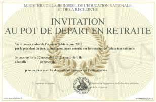 carte de voeux et invitation depart en retraite a imprimer design bild