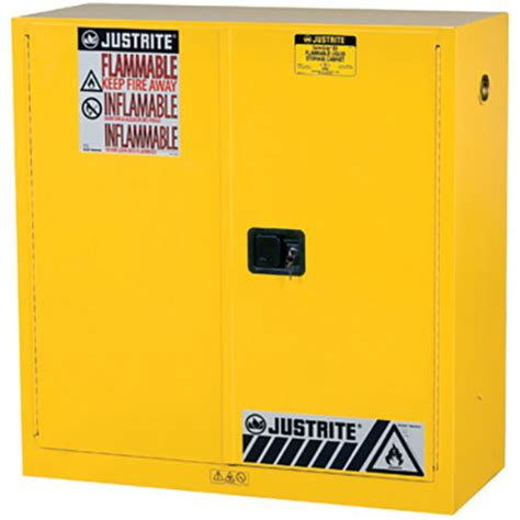 justrite 893000 sure grip ex flammable safety cabinet 30 gallon 1 shelf 2 manual doors