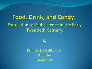 Expressions of Subsistence in the Early Twentieth Century